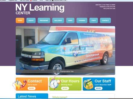 T324 website design for NY Learning Center