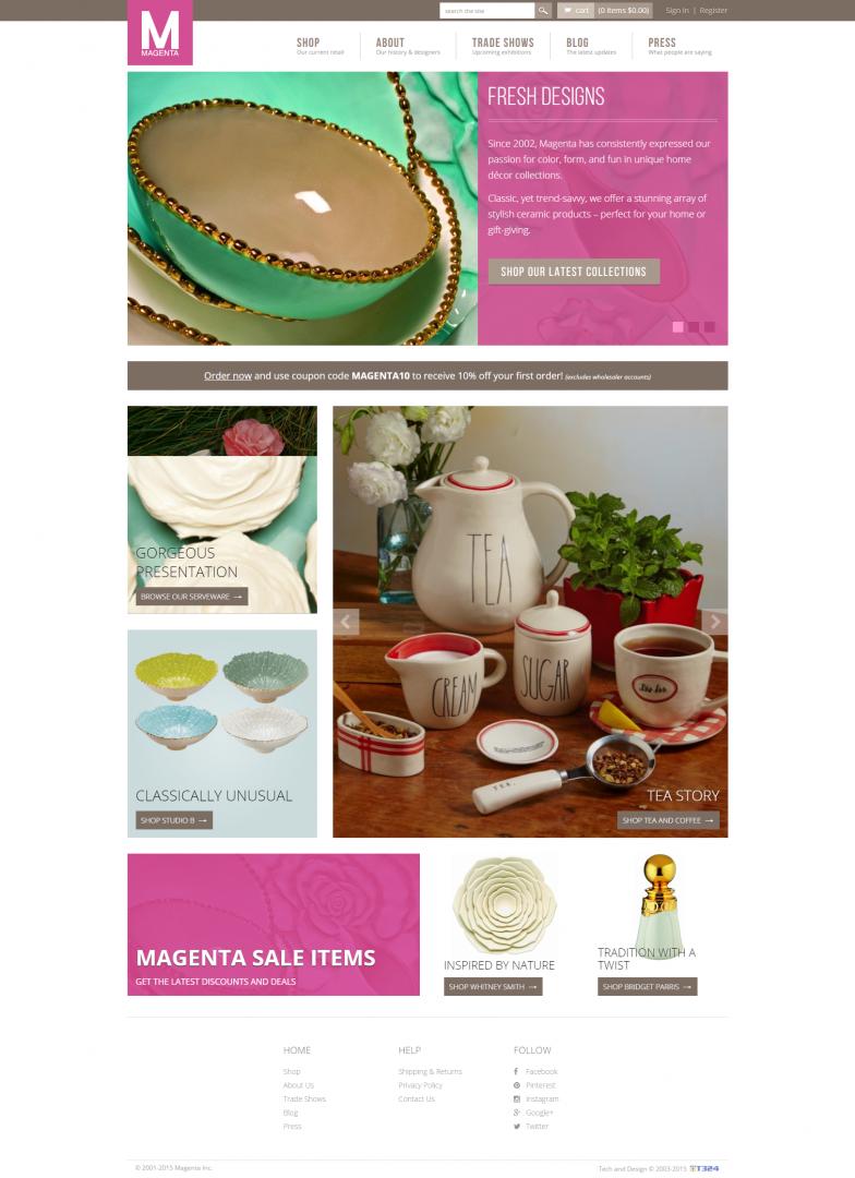 Magenta website, web development, bay area web design