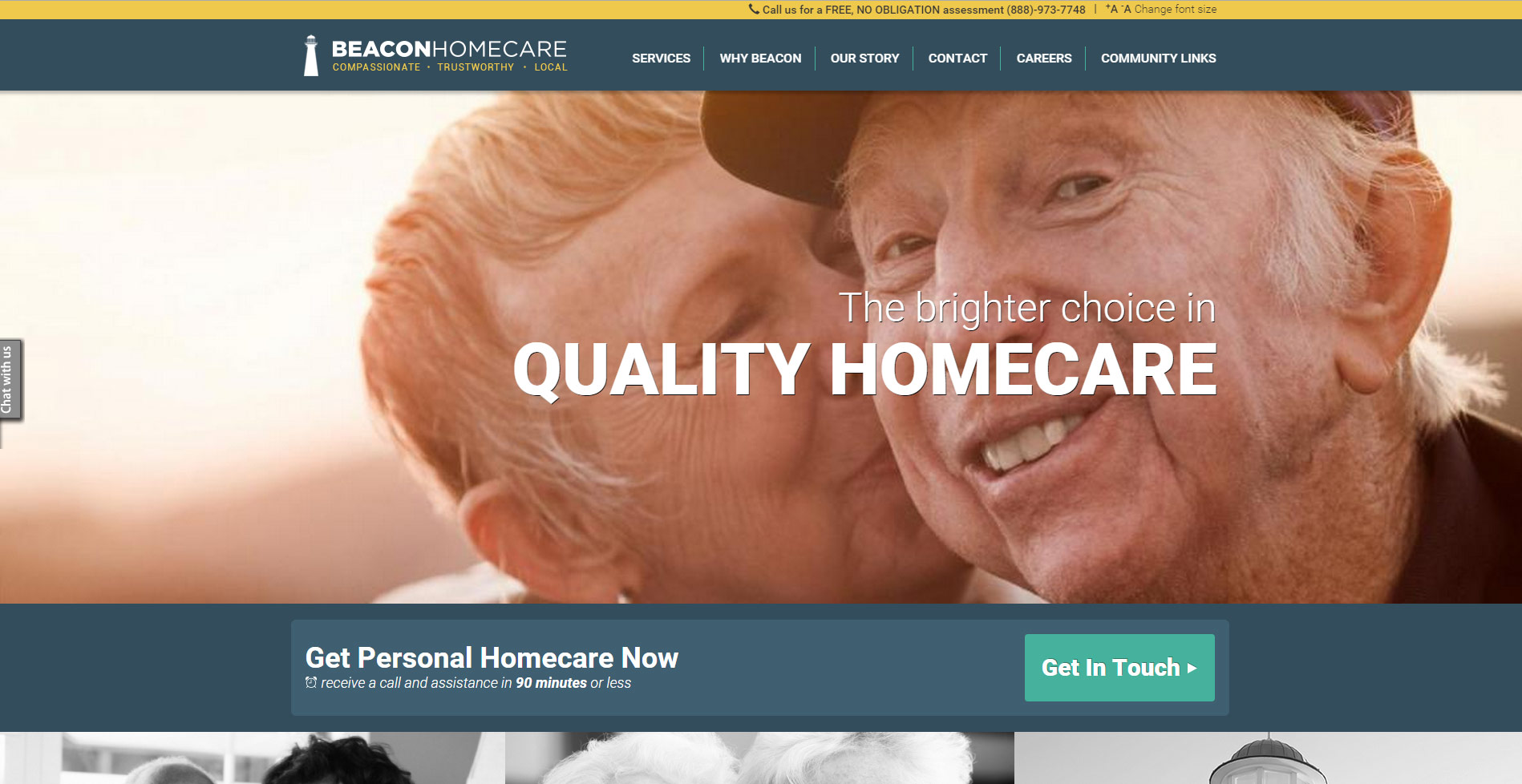 Beacon Home Care T324 Website Design And Development