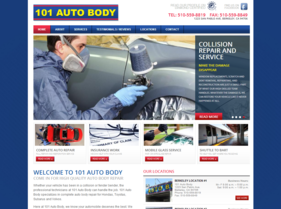 101 Auto Body website -- AFTER T324 project