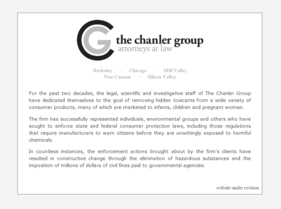 The Chanler Group placeholder page -- before T324 project