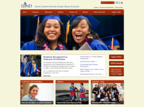 Current SJND website after latest T324 project