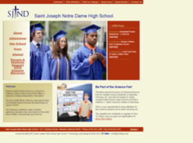 SJND website before latest redevelopment project