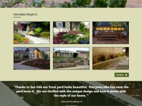 Landscape Company Website, web design, website rebuild