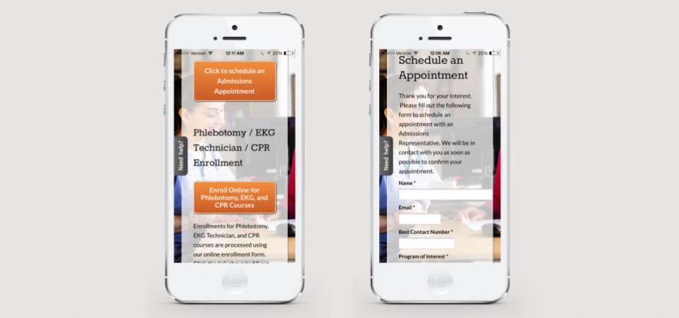 Enrollment Form - Mobile Version