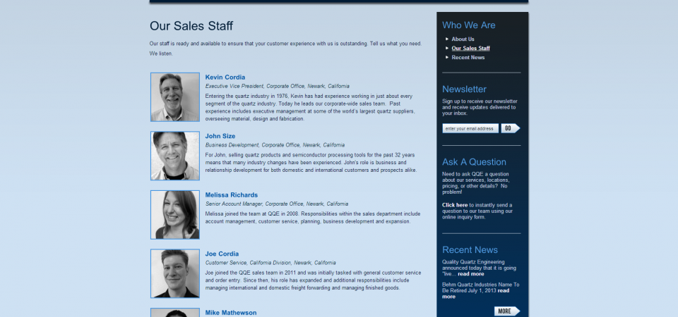 Staff Bios with automatic thumbnail image generation