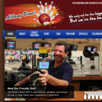 Albany Bowl website Home page